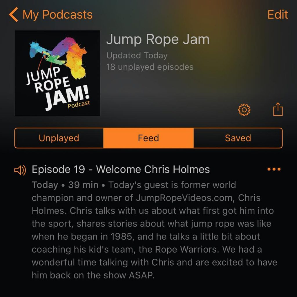 subscribe download and listen to todays episode of the JumpRopeJamhellip